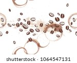 vector seamless coffee backdrop ... | Shutterstock .eps vector #1064547131