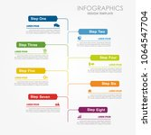 infographic template. vector... | Shutterstock .eps vector #1064547704