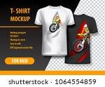 t shirt template  fully... | Shutterstock .eps vector #1064554859