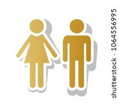 male and female sign. vector.... | Shutterstock .eps vector #1064556995