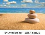 Macro Of Three Staked Zen...
