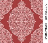 red and white ornamental... | Shutterstock .eps vector #1064562677