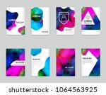 abstract colorful liquid and... | Shutterstock .eps vector #1064563925