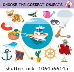 choose the correct objects for... | Shutterstock .eps vector #1064566145