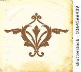 retro baroque decorations...   Shutterstock .eps vector #1064566439