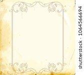 retro baroque decorations... | Shutterstock .eps vector #1064566694