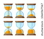 key frames of hourglasses...   Shutterstock .eps vector #1064567567