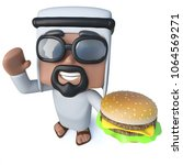 3d render of a funny cartoon... | Shutterstock . vector #1064569271