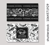 business cards for cookind... | Shutterstock .eps vector #1064571929
