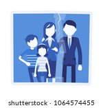 family reunion portrait. a... | Shutterstock .eps vector #1064574455