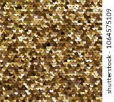 seamless golden texture of... | Shutterstock .eps vector #1064575109