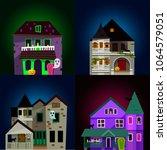 dark mysterious obscure gloomy... | Shutterstock .eps vector #1064579051
