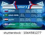 russia world cup 2018 football. ... | Shutterstock .eps vector #1064581277