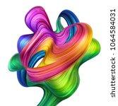 3d render  abstract artistic... | Shutterstock . vector #1064584031
