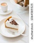Small photo of Homemade cheesecake - healthy organic summer dessert pie cheesecake. Vanilla Cheese?ake.