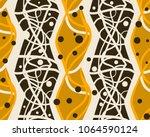 vector seamless geometric... | Shutterstock .eps vector #1064590124