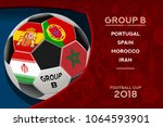 russia world cup 2018 football. ... | Shutterstock .eps vector #1064593901