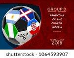 russia world cup 2018 football. ... | Shutterstock .eps vector #1064593907