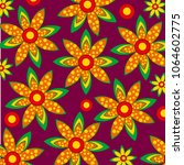 bright and colorful pattern... | Shutterstock .eps vector #1064602775