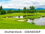 golf course with gorgeous green ... | Shutterstock . vector #106460369
