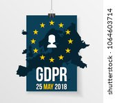 gdpr illustration with europe... | Shutterstock .eps vector #1064603714