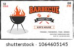 barbecue poster  flyer ...   Shutterstock .eps vector #1064605145