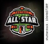 all stars of football  logo ... | Shutterstock .eps vector #1064607389