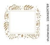 flower frame template for... | Shutterstock .eps vector #1064609789