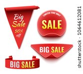 set of red sale banners.... | Shutterstock .eps vector #1064612081