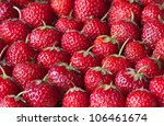 fresh strawberry on the clean... | Shutterstock . vector #106461674