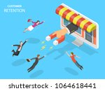 online store customer retention ... | Shutterstock .eps vector #1064618441