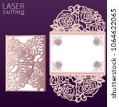 vector die laser cut envelope...   Shutterstock .eps vector #1064622065