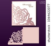 die laser cut wedding card... | Shutterstock .eps vector #1064622077