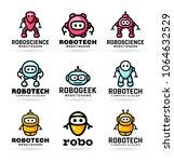 robot logo design | Shutterstock .eps vector #1064632529