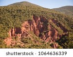 atlas mountains  morocco  ... | Shutterstock . vector #1064636339