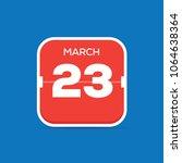 march 23 calendar flat icon