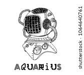 steampunc zodiac vector set | Shutterstock .eps vector #1064640761