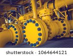 offshore industry oil and gas... | Shutterstock . vector #1064644121