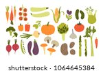 collection of colorful hand... | Shutterstock .eps vector #1064645384