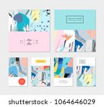 collection of creative... | Shutterstock .eps vector #1064646029