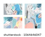 collection of creative... | Shutterstock .eps vector #1064646047