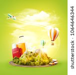 unusual 3d illustration of a... | Shutterstock . vector #1064646344