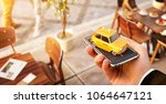 smartphone application of taxi... | Shutterstock . vector #1064647121