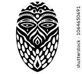 Tribal Ethnik Mask. Black And...