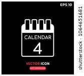 4th calendar vector icon.modern ...