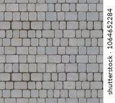 popular street gray paving... | Shutterstock . vector #1064652284