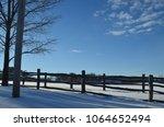 blue winter sky | Shutterstock . vector #1064652494