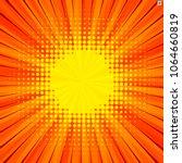 abstract comic orange...   Shutterstock .eps vector #1064660819