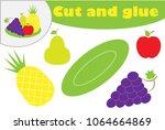 fruit in cartoon style ...   Shutterstock .eps vector #1064664869