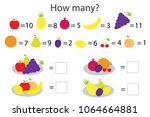 how many counting game with... | Shutterstock .eps vector #1064664881